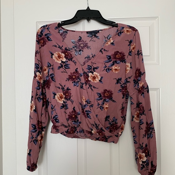American Eagle Outfitters Tops - Floral Long Sleeve Top